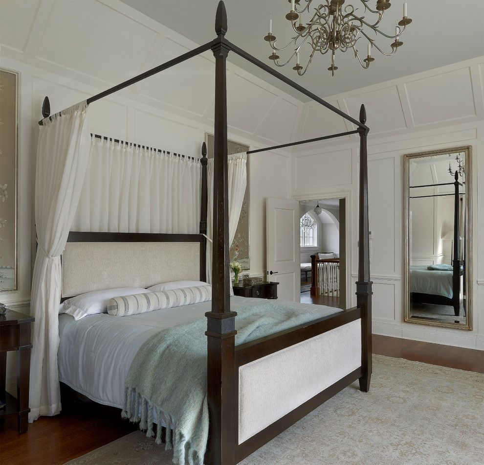 Canpo for a Traditional Bedroom with a Light Blue Bedding and Suburban Estate by Lauren Coburn Llc