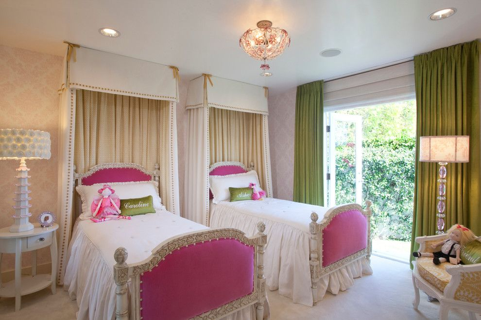 Canpo for a Traditional Kids with a Pink Table Lamp and Asher's Rooom by Afk Furniture