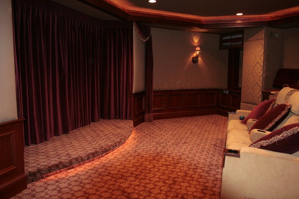 Carlisle Movie Theater for a Mediterranean Basement with a Mediterranean and Basements by Berriz Design Build Group
