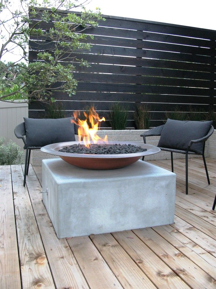 Carls Patio for a Contemporary Landscape with a Gas Fueled Fire Element and Debora Carl Landscape Design by Debora Carl Landscape Design