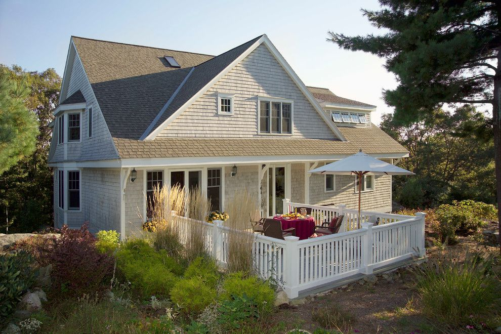 Carls Patio for a Traditional Exterior with a Shingle Style and the Treehouse by Olson Lewis + Architects