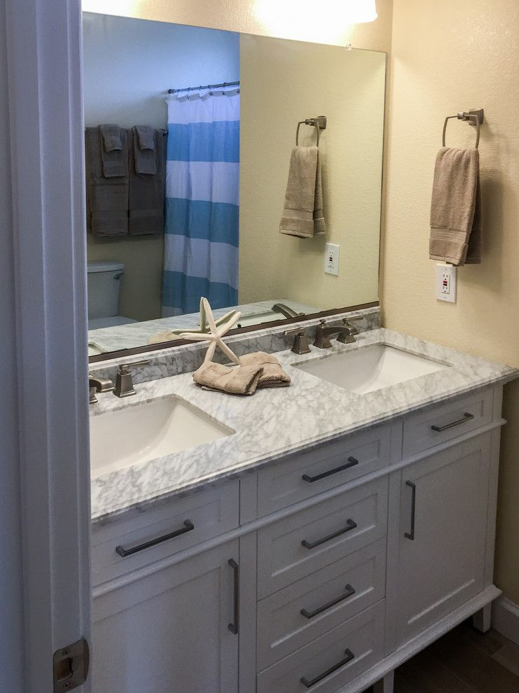Carova Beach for a Beach Style Bathroom with a Cottage Style and Carova (North Corolla)   Beach Cottage Design by Amy Hilliker Klebitz   Certified Interior Designer