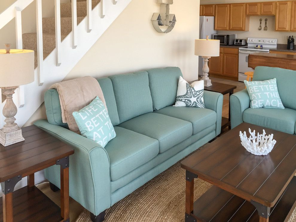 Carova Beach for a Beach Style Living Room with a Coastal and Carova (North Corolla)   Beach Cottage Design by Amy Hilliker Klebitz   Certified Interior Designer