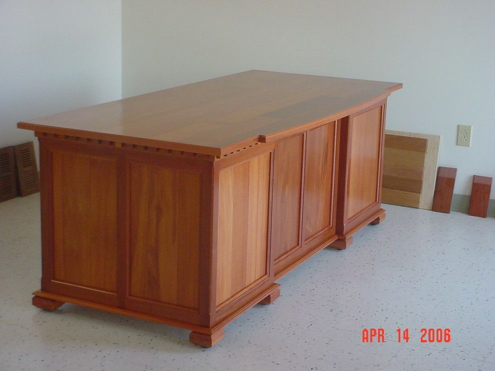 Carpe Diem Charlotte Nc for a Traditional Spaces with a Handmade Cherry Executive Desk for Business Office and Various Projects From the Past Few Years by Carpe Diem Fabrication