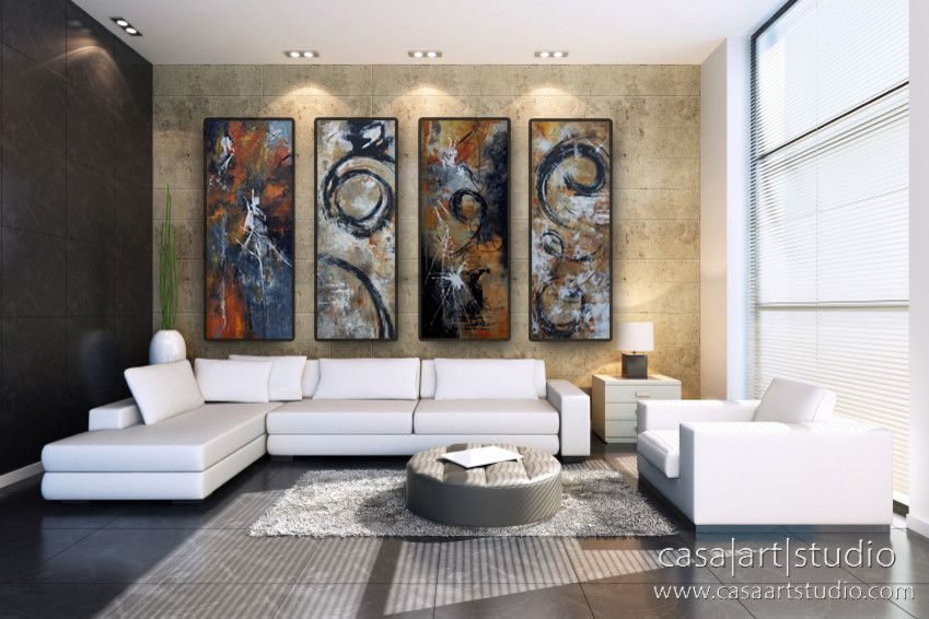 Casa Tua Miami for a Contemporary Living Room with a Modern Artwork and Canvas by Casa Art Studio