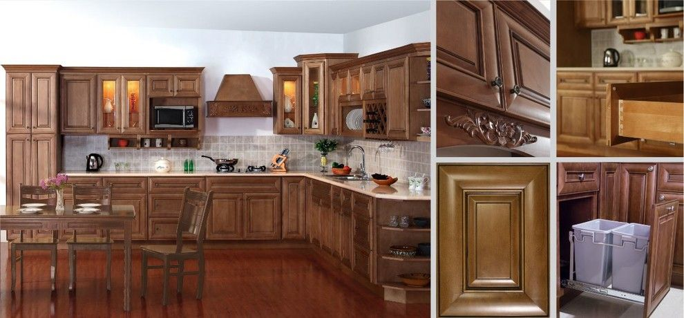 Casa Tua Miami for a Modern Kitchen with a Discountcasa and Coffee Glaze Style Kitchen Cabinets by Discount Casa