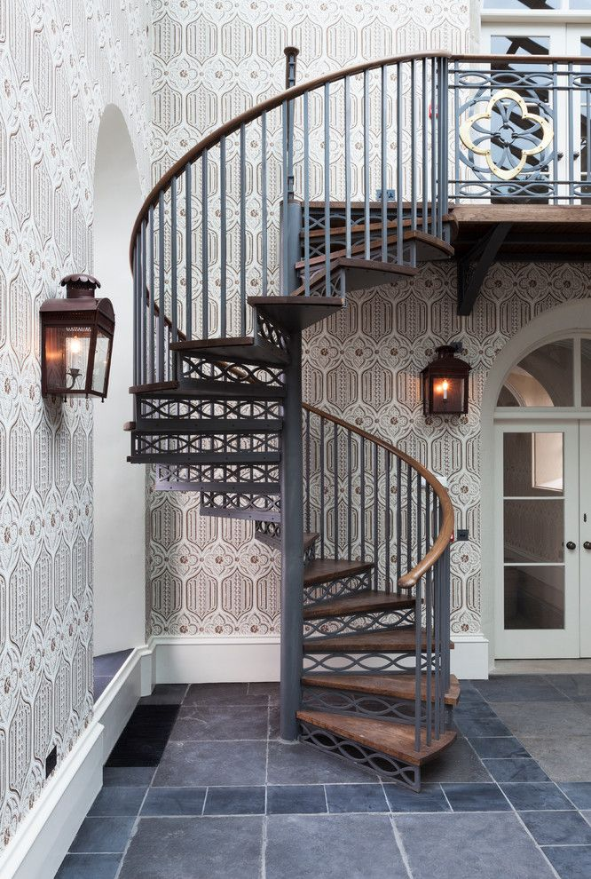 Castle Metals for a Traditional Staircase with a High Ceiling and a Listed Castle & Chapel by Gibbon Lawson Mckee Ltd.