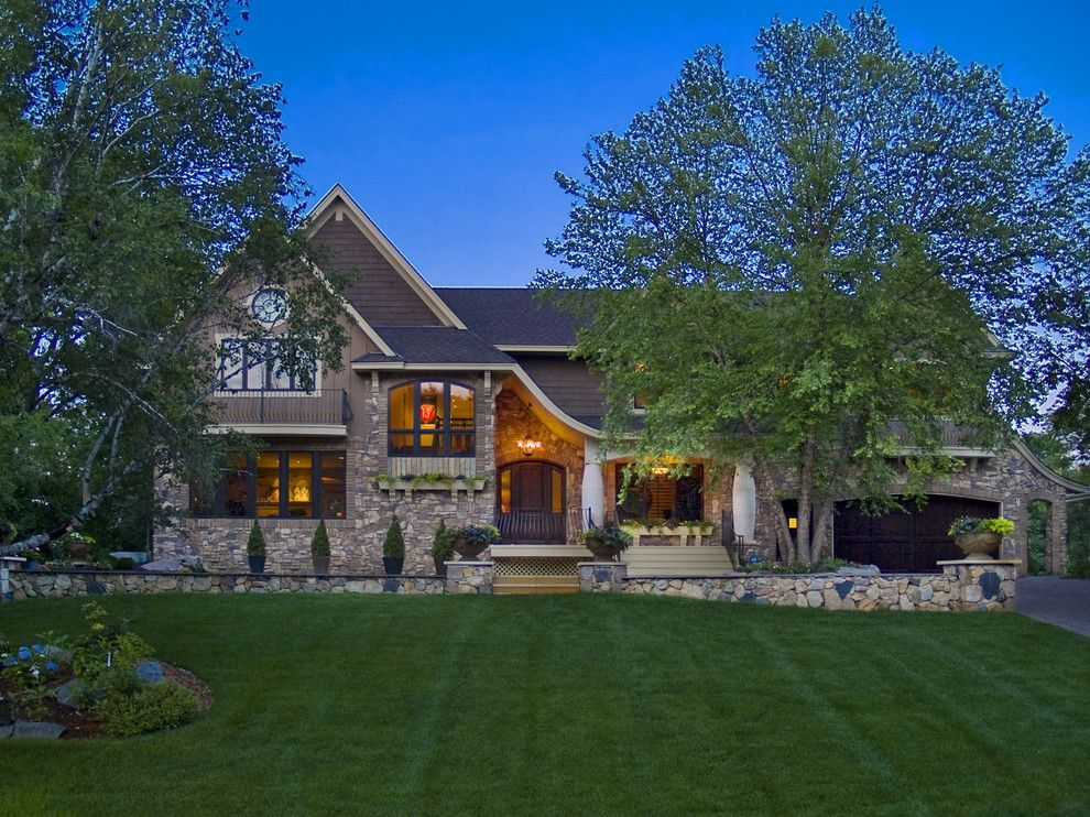 Castlewood Country Club for a Modern Exterior with a Home Exterior and Edina Country Club Custom Designed Home by Schrader & Companies