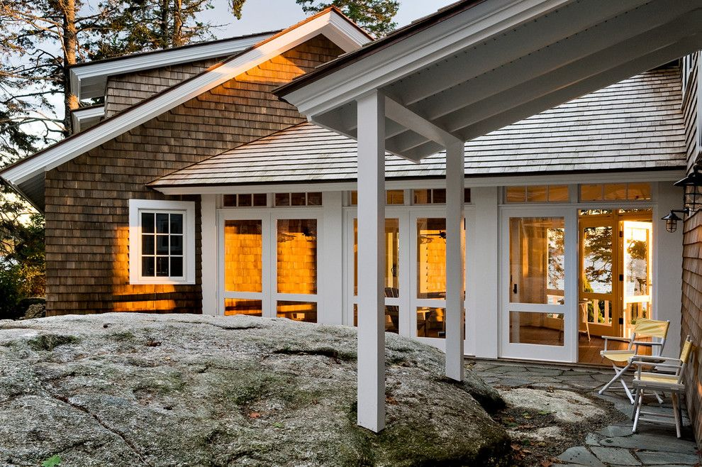 Cat6 vs Cat5e for a Beach Style Exterior with a Addition and Three Season Porch Entry by Whitten Architects