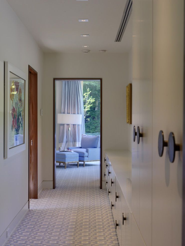 Cat6 vs Cat5e for a Contemporary Closet with a Built in Storage and Woodvalley   Bathroom by Ziger/snead Architects