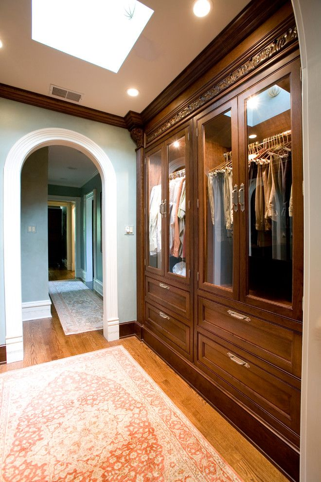 Cat6 vs Cat5e for a Traditional Closet with a Oriental Rug and Formal and Comfortable by Cheryl D & Company