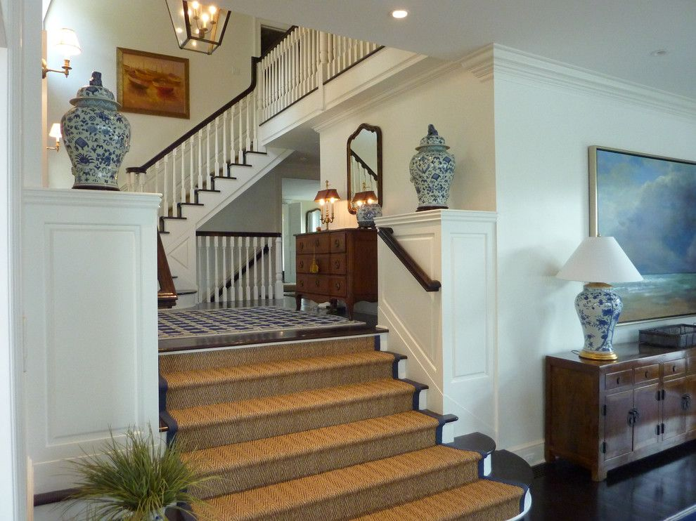 Cat6 vs Cat5e for a Traditional Staircase with a Wainscoting and Elegance on the South Cove by Celebration Green Design & Build