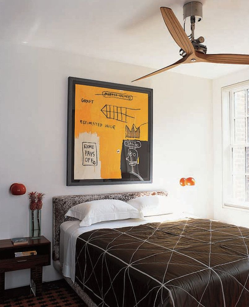 Caulked for a Contemporary Bedroom with a Enameled Boi Lamps by David Weeks and Greenwich Village Townhouse Guest Bedroom by Axis Mundi