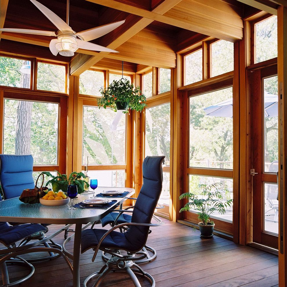 Ceco Building Systems for a Eclectic Porch with a Enclosed Porch and Jones Design Build by Jones Design Build
