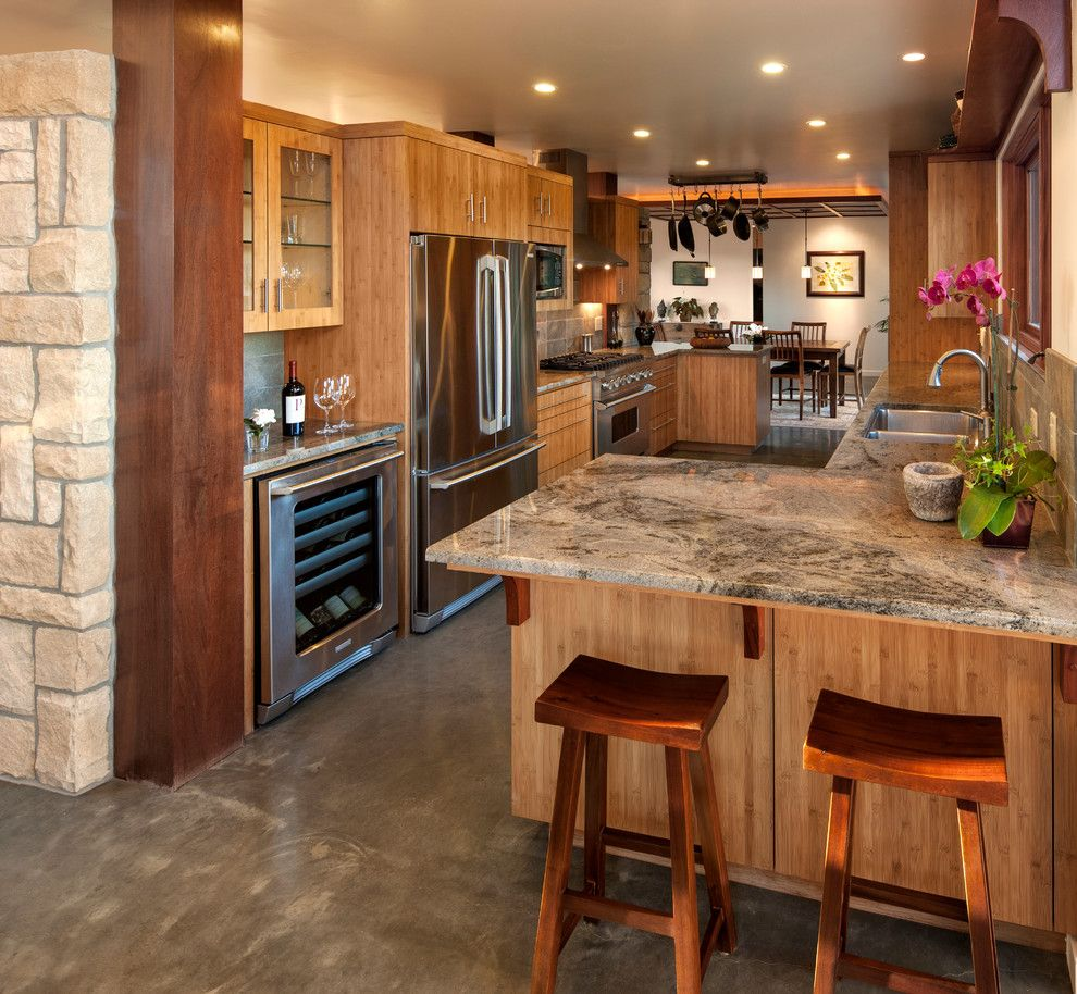 Ceco Concrete Construction for a Contemporary Kitchen with a Recessed Lighting and Fire Rebuild   Coyote by Vernon Sons Construction
