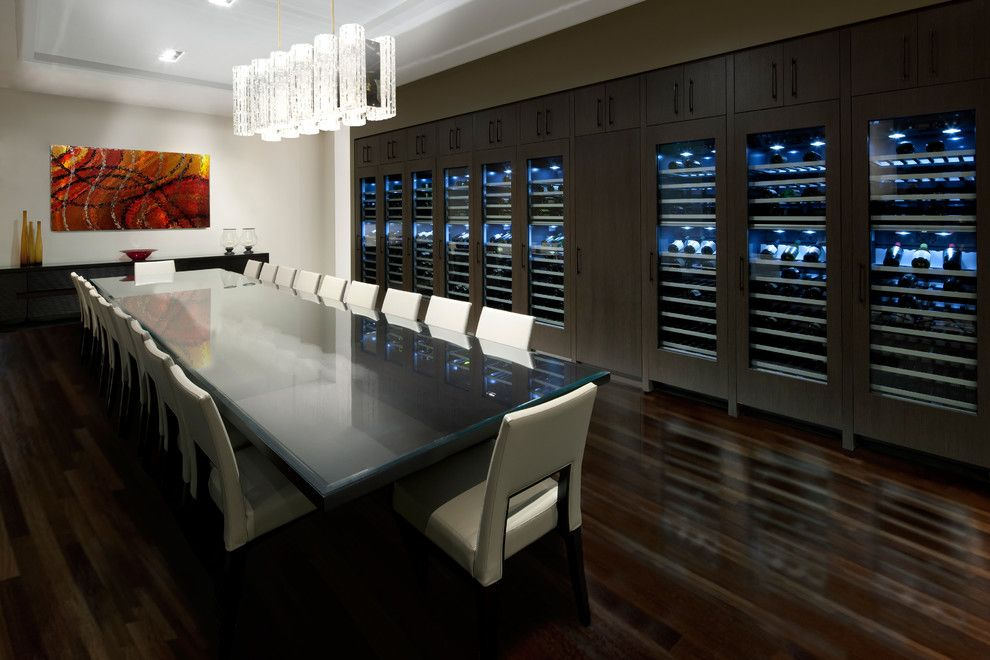 Centerville Mn for a Modern Dining Room with a Wine Refrigerator and Thermador by Thermador Home Appliances