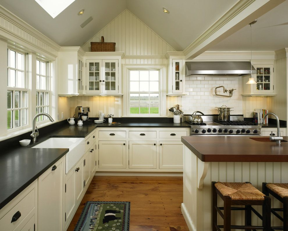 Century Walnut Creek for a Farmhouse Kitchen with a Island Sink and Herring Creek Farmhouse by Patrick Ahearn Architect