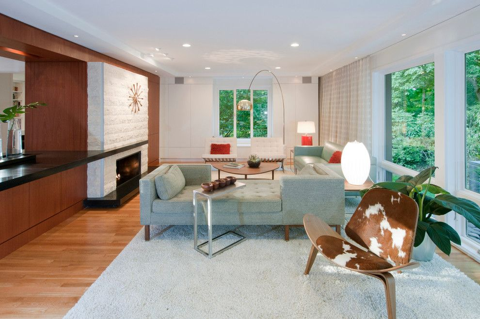 Century Walnut Creek for a Midcentury Living Room with a Led Lighting and Mid Century Remodel by Mark Lawton Architecture