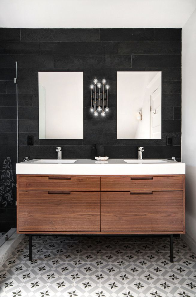 Century Walnut Creek for a Transitional Bathroom with a Mirror and Regal Heights by Shirley Meisels
