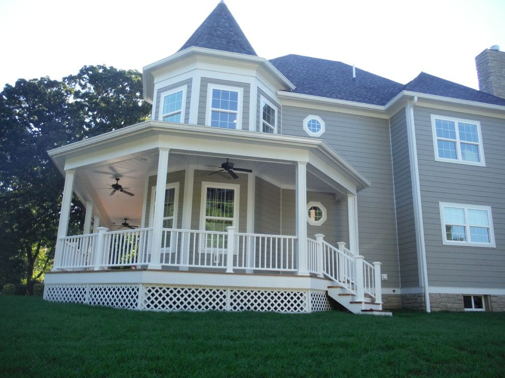 Certain Teed for a Traditional Exterior with a James Hardie Siding Products and Hardie Monterey Taupe with Certainteed Shingle | Wildwood, Mo (63040) by Siding Express (Maintenance Free Siding)