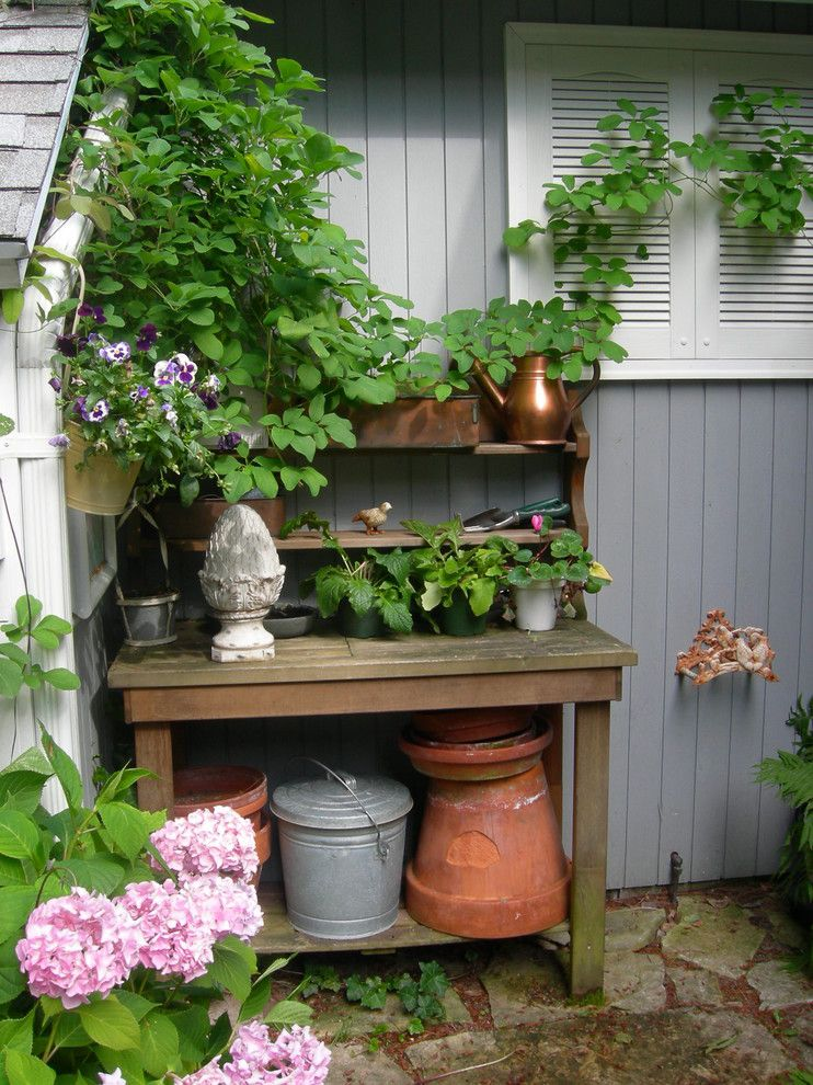 Chagrin Pet and Garden for a Traditional Landscape with a Vines and Cottage Landscape by Gail Olsen, Asid