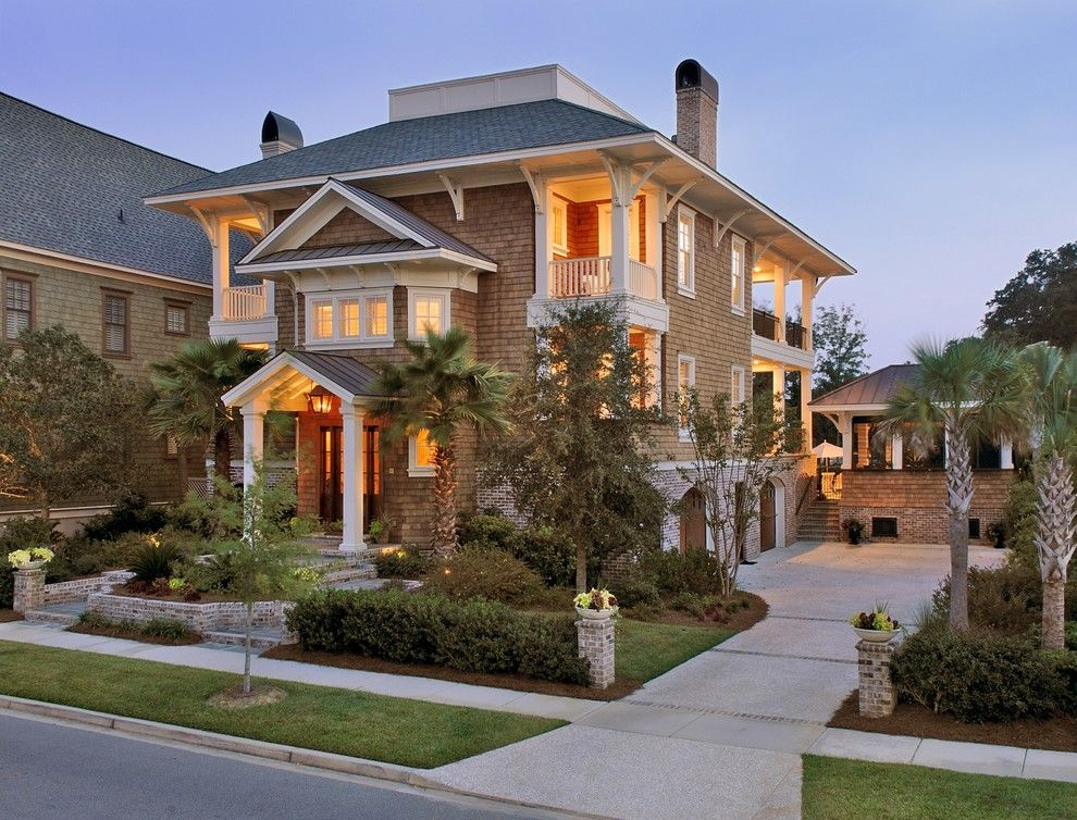 Charleston Sc Points of Interest for a Beach Style Exterior with a Widows Walk and Daniel Island Residence 1 by Architrave