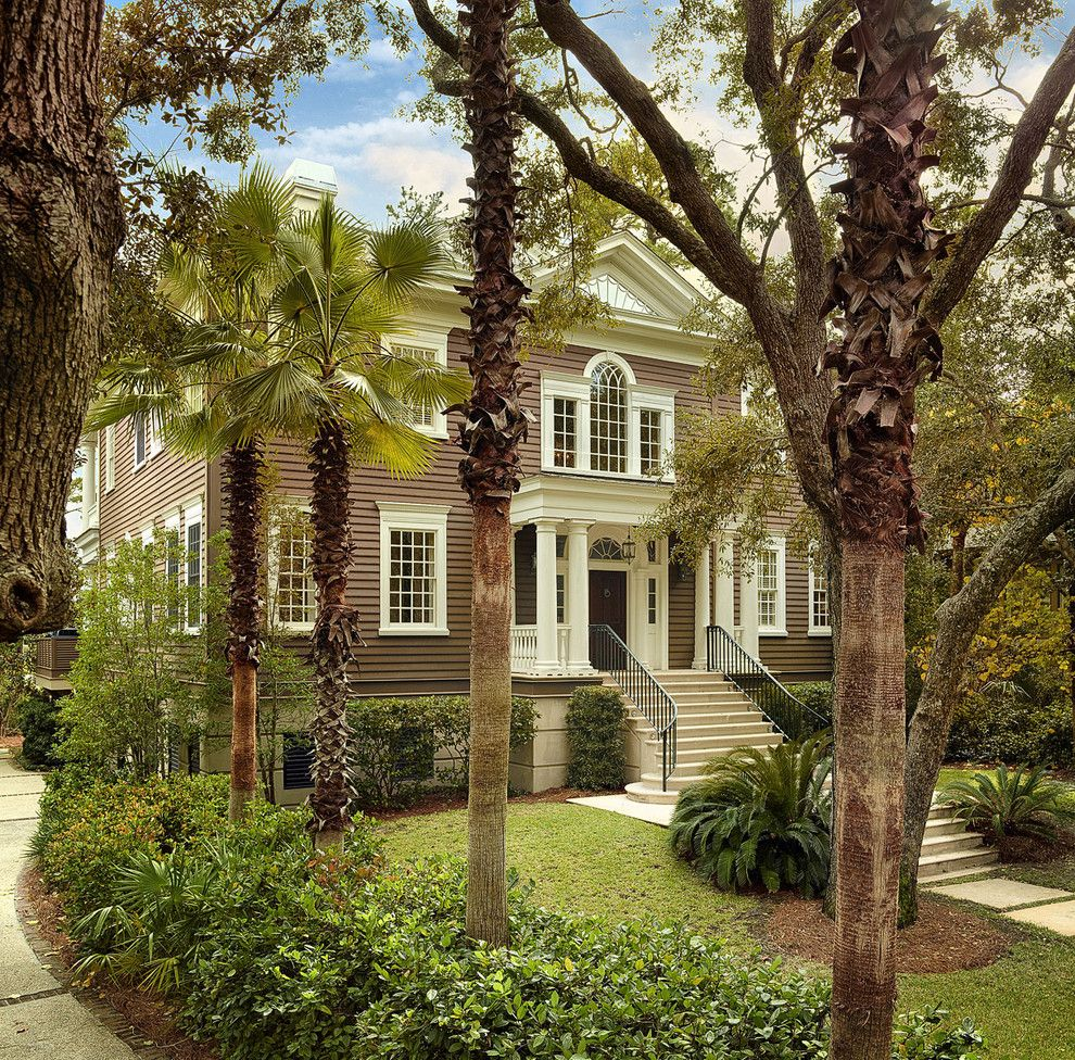 Charleston Sc Points of Interest for a Traditional Exterior with a French Window and Front View From Entrance by Christopher a Rose Aia, Asid