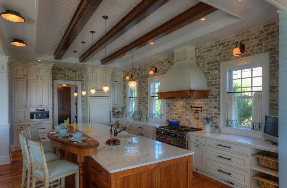 Charleston Sc Points of Interest for a Traditional Kitchen with a Tongue and Groove Ceiling and Kitchen by Phillip W Smith General Contractor, Inc.