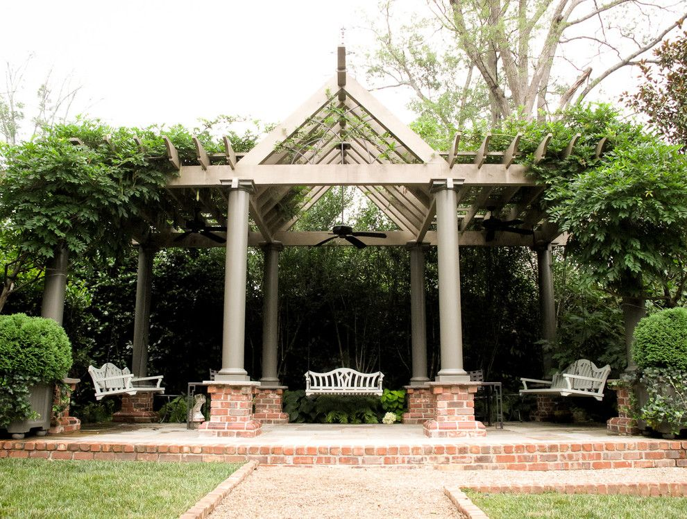 Charleston Sc Points of Interest for a Traditional Landscape with a Steps and Wood Arbor and Bench Swings by the Collins Group/jdp Design