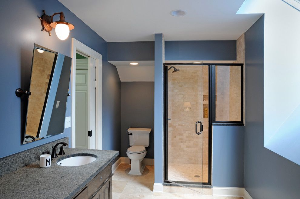 Charlie Wilson Appliance for a Traditional Bathroom with a Glass Shower Door and a Whole House Transformation by Dave Fox Design Build Remodelers