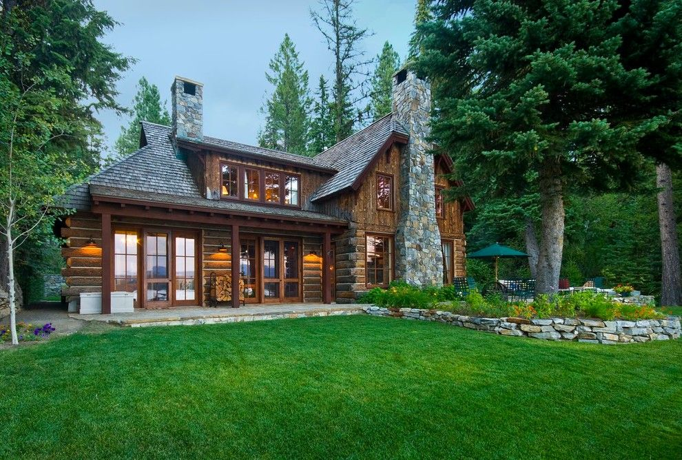 Chase Bank Boise for a Rustic Exterior with a Cabin and Sylvan Beach by Mccall Design & Planning