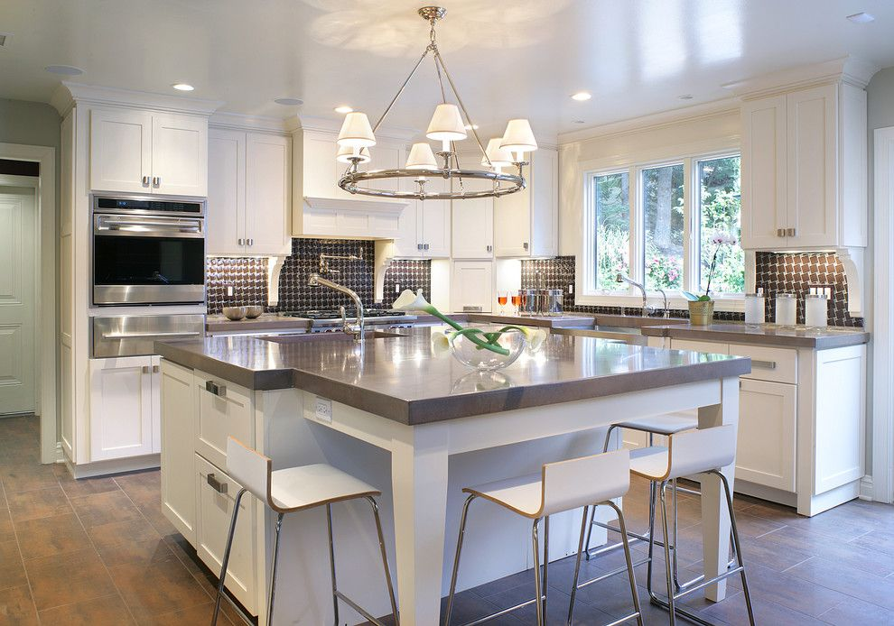 Chateau Briand Long Island for a Contemporary Kitchen with a Tile Floor and a Contemporary Kitchen by Kenneth Davis Lux International
