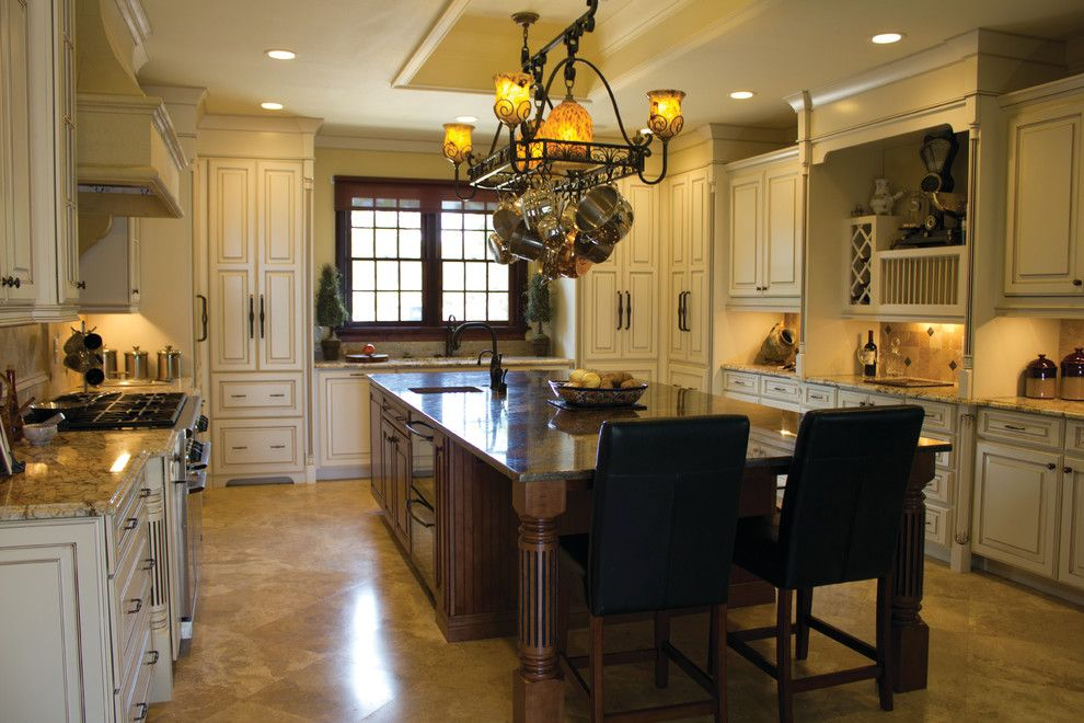 Chateau Briand Long Island for a Traditional Kitchen with a Hanging Pot Rack and Kabinart Puts Your Dreams Within Reach! Kornerstone Orlando by Jorn Sales & Marketing, Inc.