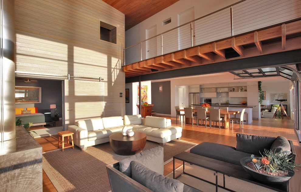 Chesapeake Landing for a Contemporary Living Room with a Corner Window and Bay House by Gardner Architects Llc