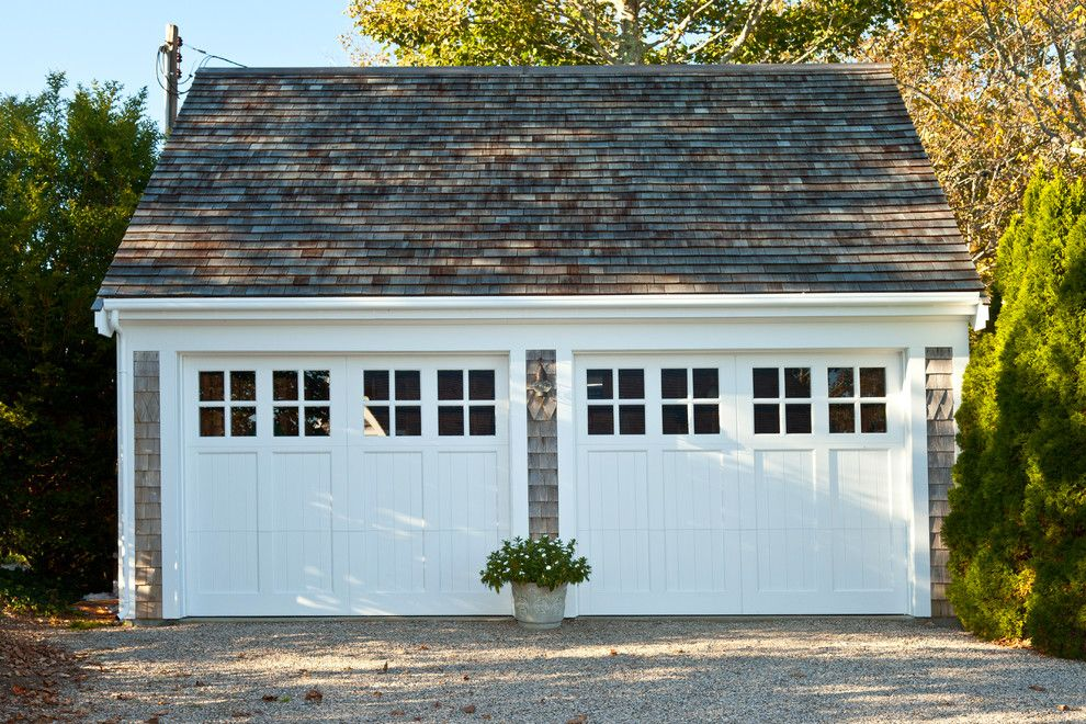 Chi Overhead Doors for a Traditional Garage with a Two Garage Doors and Custom Renovation   Cape Cod by Fellman Brothers Builders