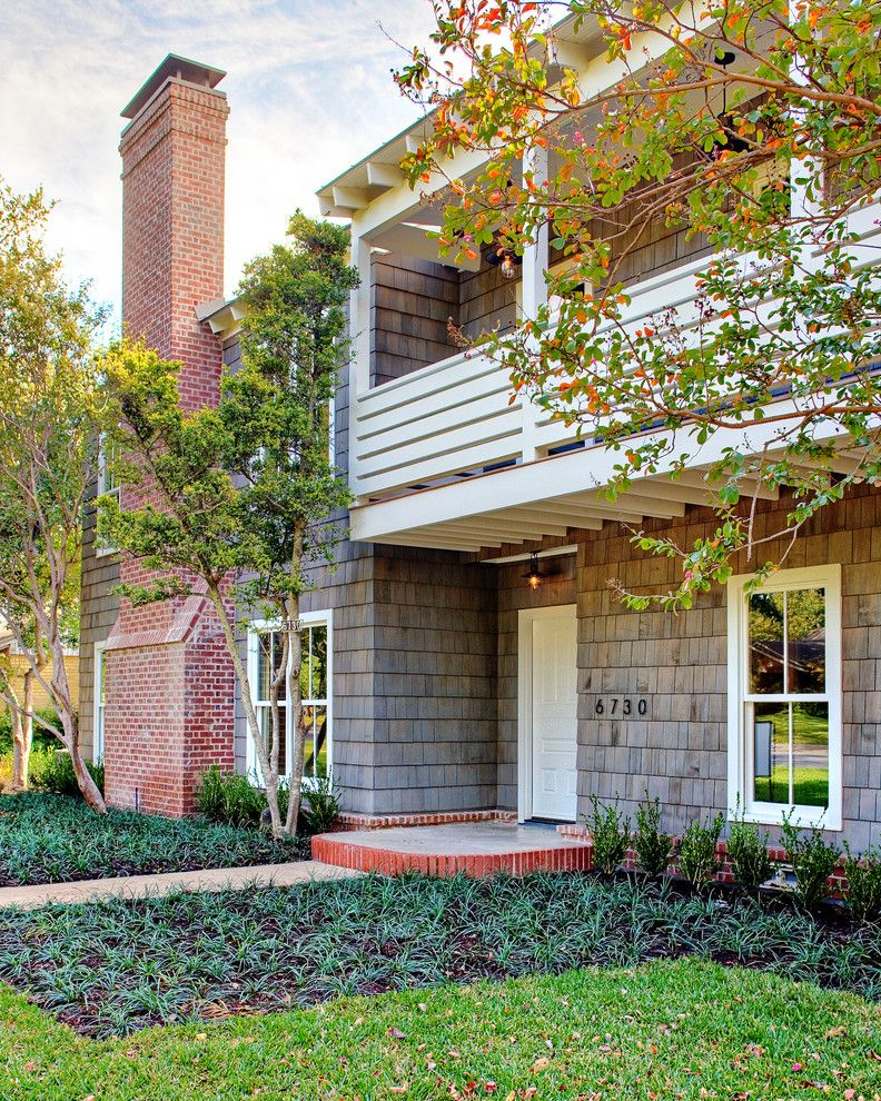 Chiminey for a Traditional Exterior with a Trees and Country House in City / Dallas by More Design+Build