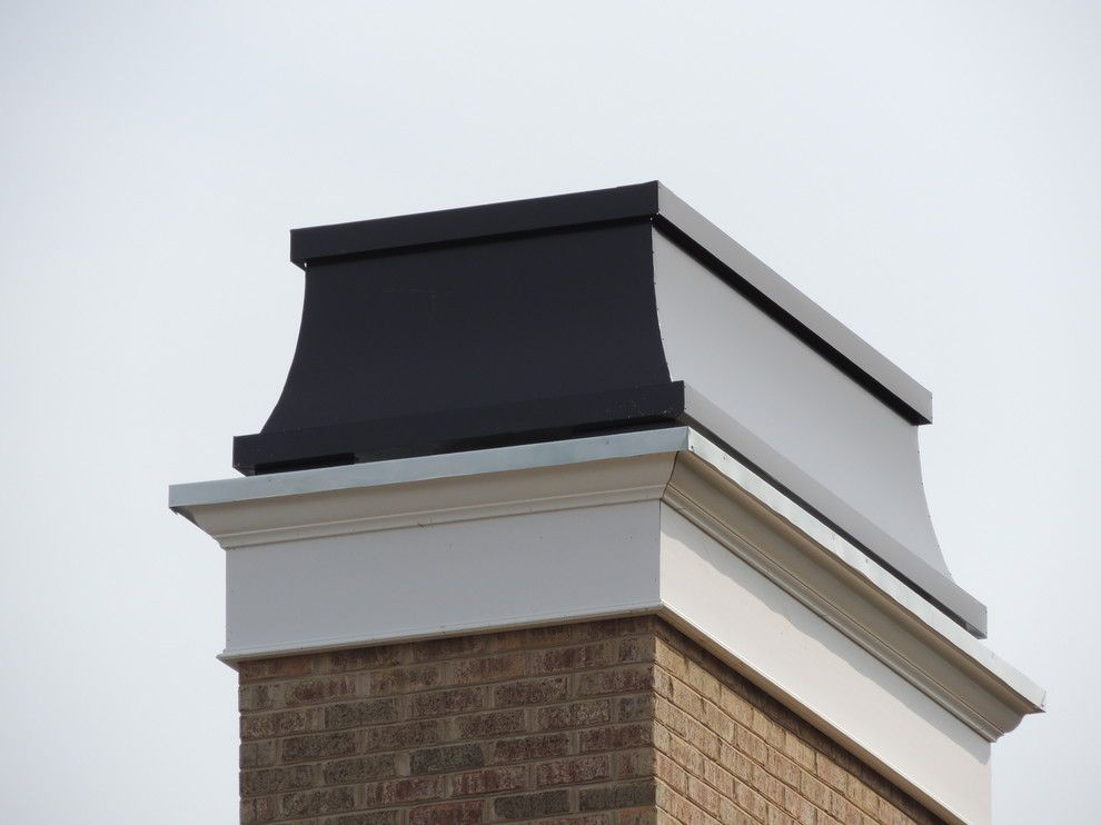 Chiminey for a Traditional Spaces with a Chimney Caps and Woodmont Development by Chimney King, Llc