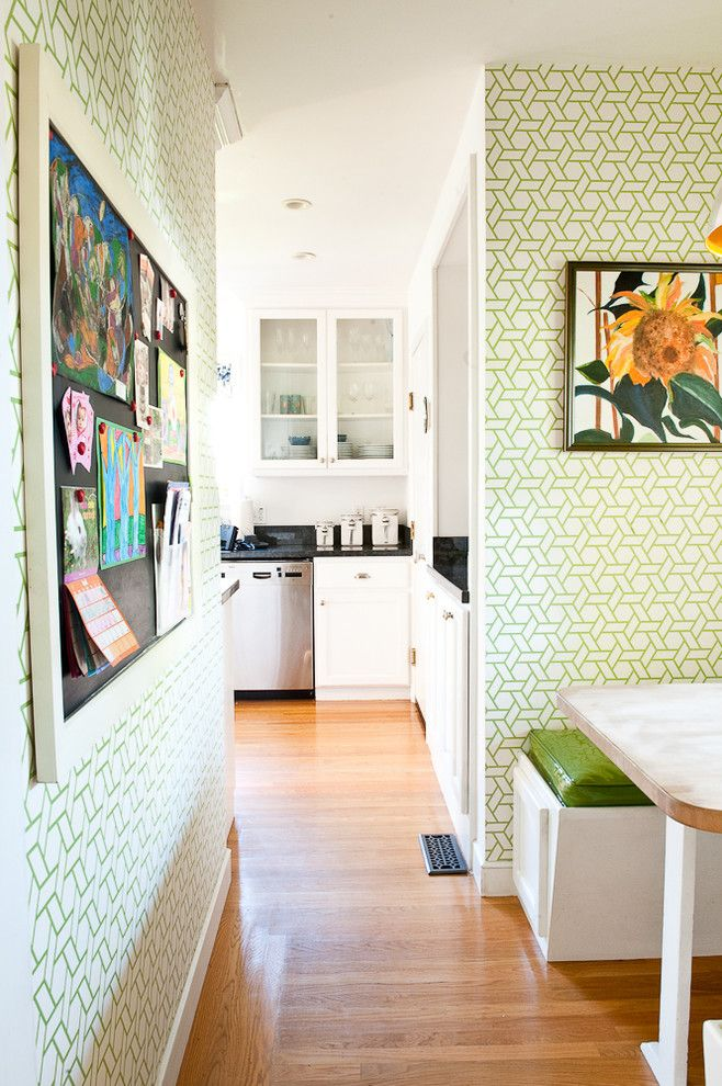 Chiohd for a Contemporary Kitchen with a Lattice and Kitchen Nook by Cristin Priest Simplified Bee
