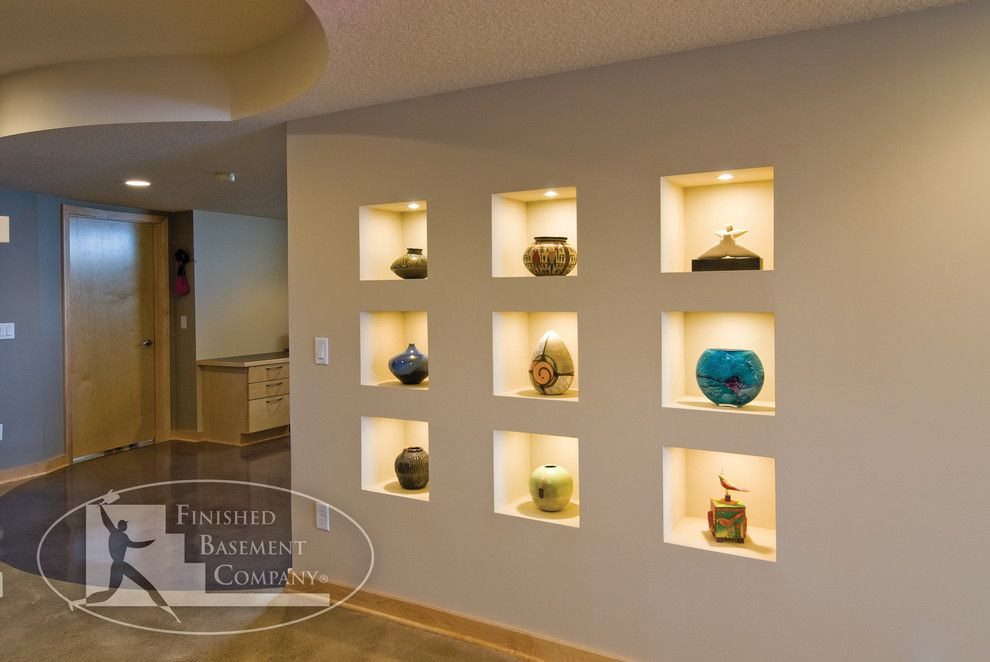 Cicero Theater for a Contemporary Basement with a Accent Lighting and Tonkawood Basement by Finished Basement Company