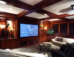 Cincinnati Theater for a Contemporary Home Theater with a Contemporary and the v Collective by Housetrends Magazine