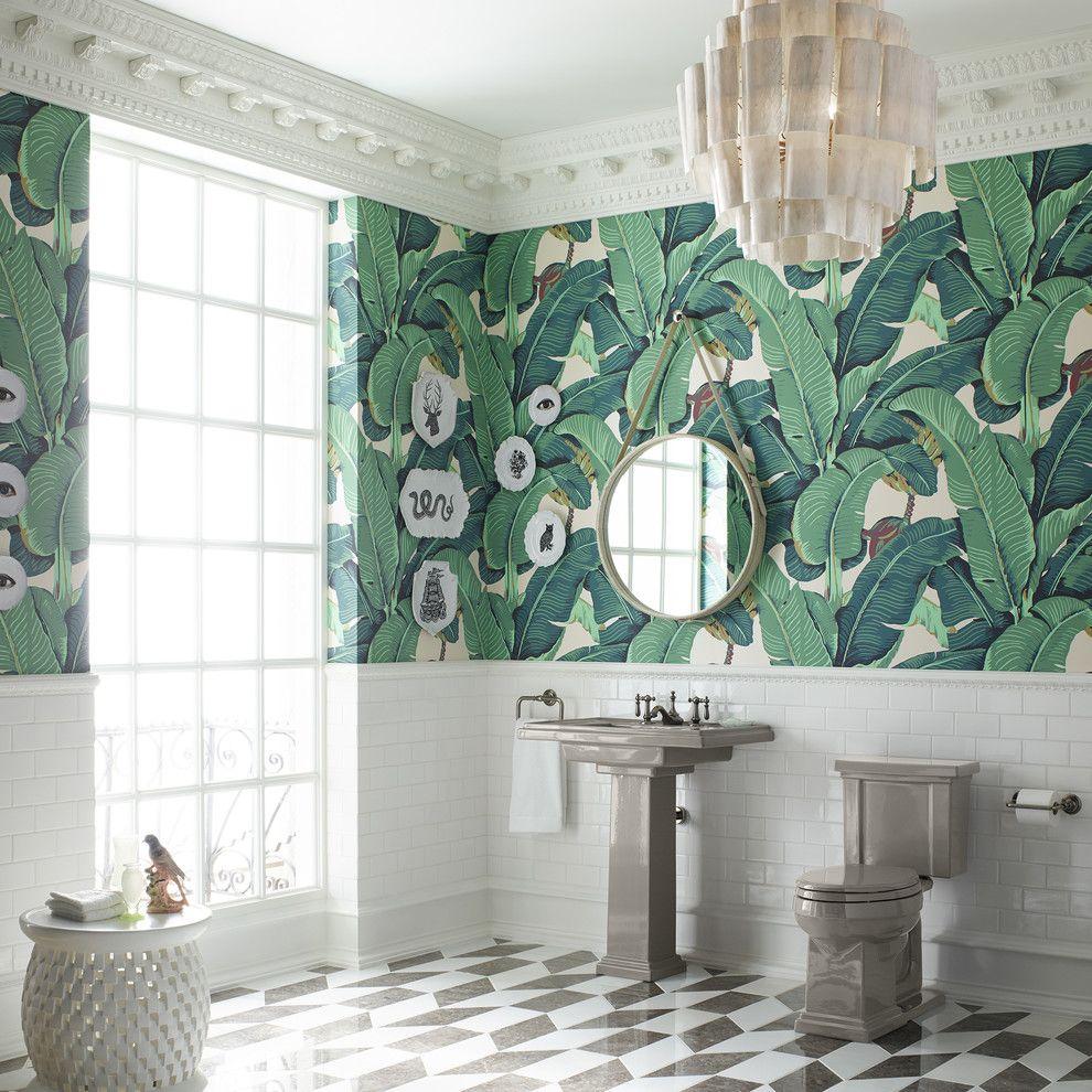 Cincinnatian Hotel for a Contemporary Bathroom with a Gray Sink and Kohler by Kohler