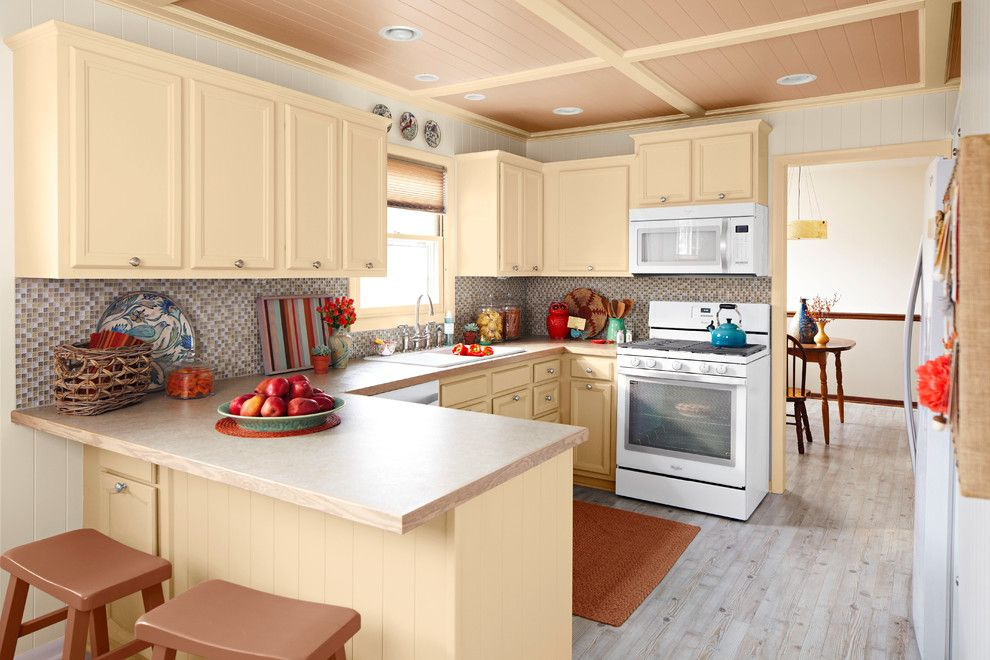 Cincinnatian Hotel for a Transitional Kitchen with a Yellow and Toast & Tea by Lowe's Home Improvement