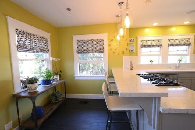 Clap Board for a Contemporary Kitchen with a Shaker Cabinets and North Park Kitchen by Mathis Custom Remodeling