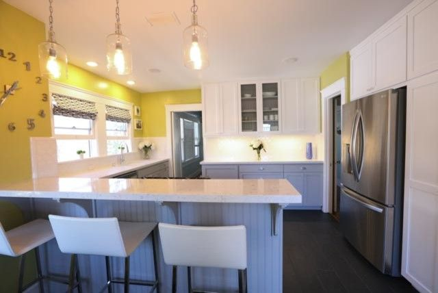 Clap Board for a Contemporary Kitchen with a Storage and North Park Kitchen Remodel with Shaker Cabinets by Mathis Custom Remodeling