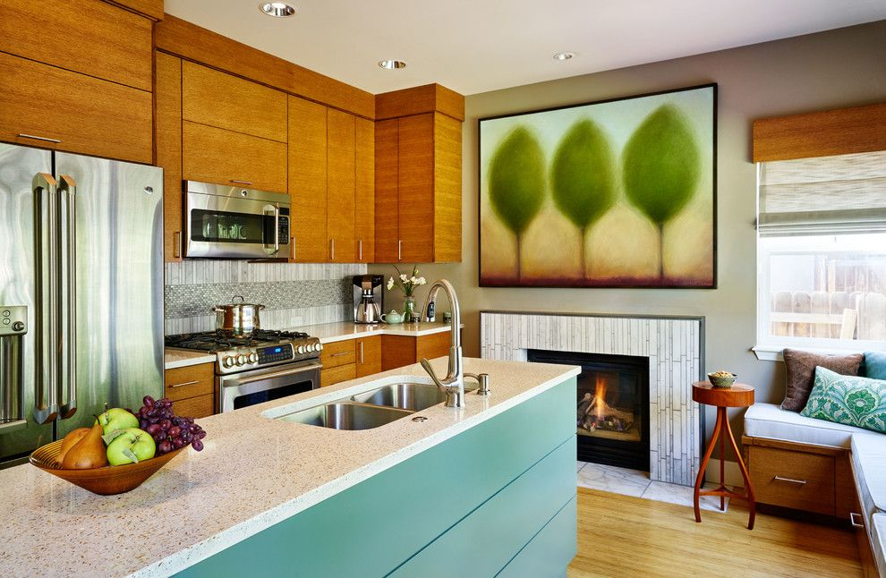 Clayton Appliance for a Contemporary Kitchen with a Stainless Steel Appliances and 1990's Home Update by Charmaine Manley Design