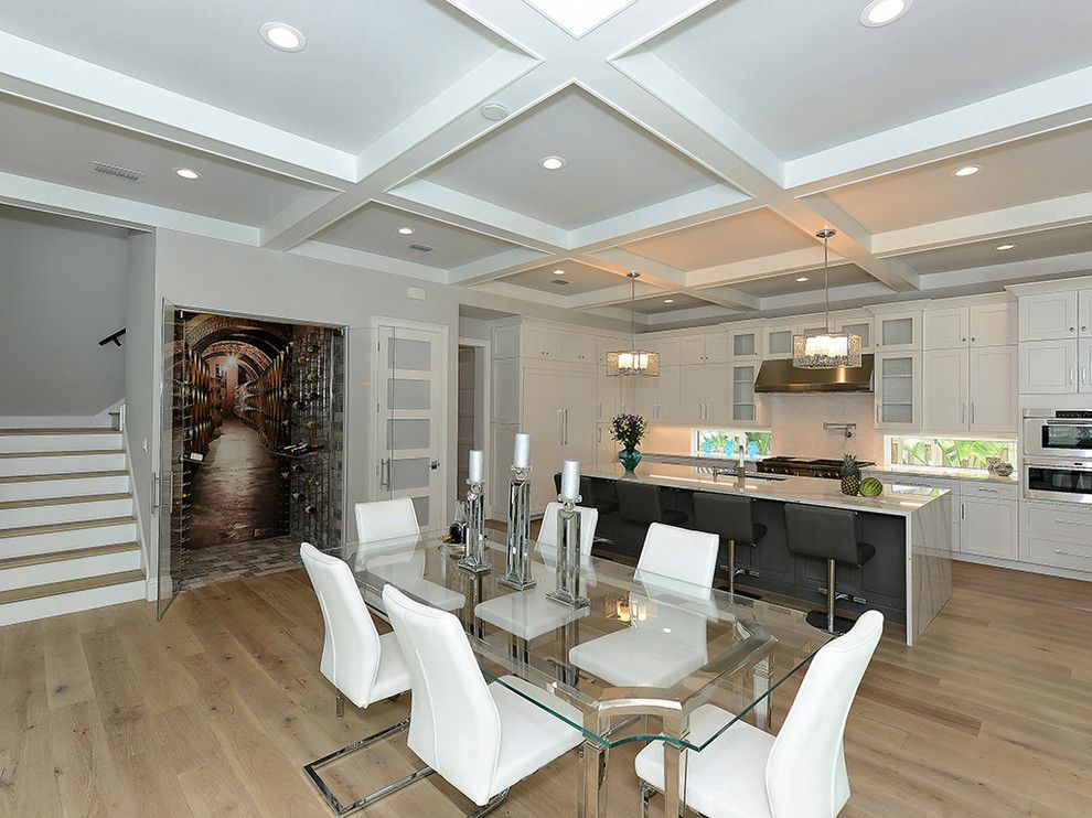 Clayton Appliance for a Transitional Dining Room with a Coastal Contemporary and the Indie   1938 Hibiscus St, Sarasota, Fl 34239 by Classic Homes by Clayton, Inc.