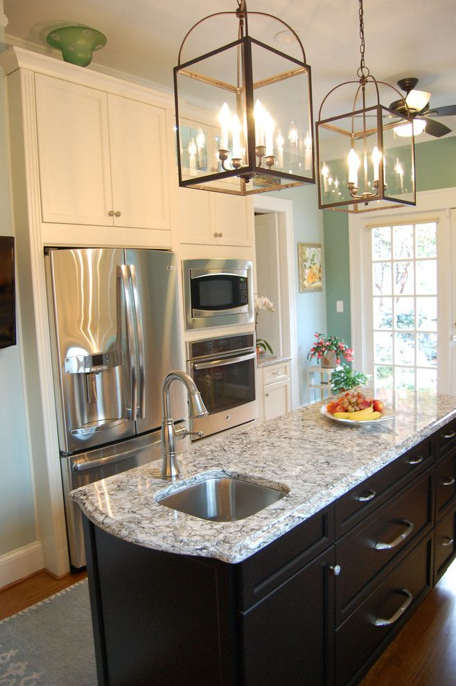 Clayton Appliance for a Transitional Kitchen with a Brushed Nickel and Atchison Kitchen by Rima Nasser
