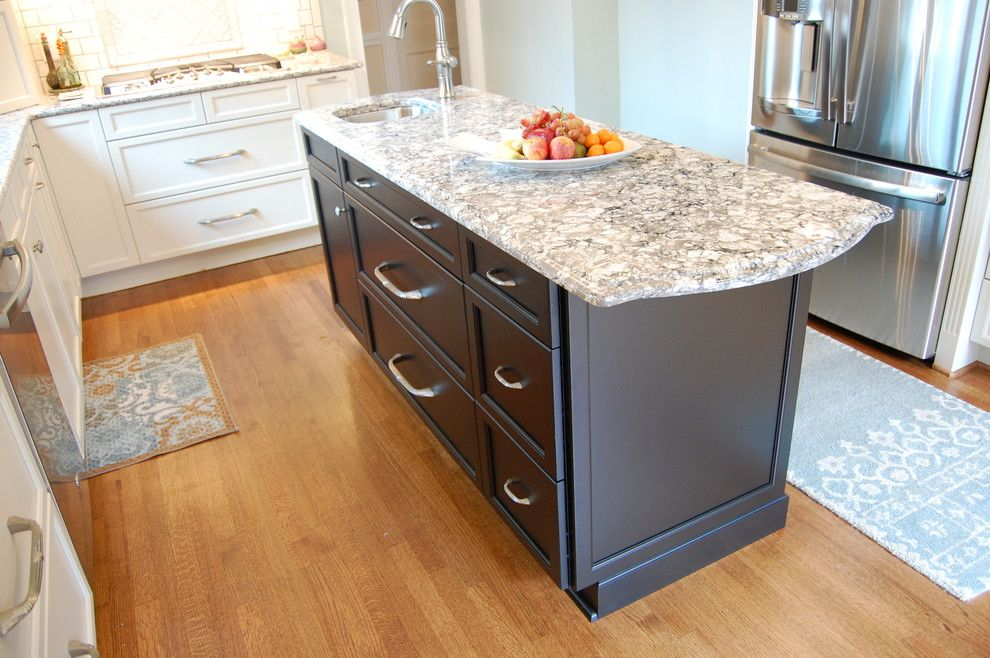 Clayton Appliance for a Transitional Kitchen with a Decorative Hood and Atchison Kitchen by Rima Nasser