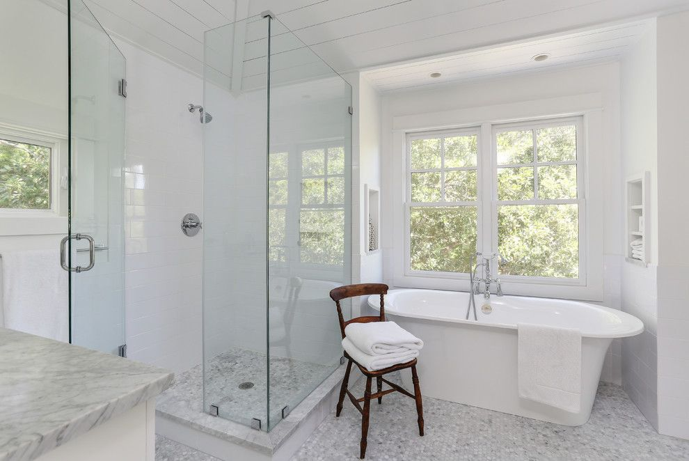 Cleaning Windows with Vinegar for a Transitional Bathroom with a Clean and Amy Trowman Sullivans Beach House No. 3 by Matthew Bolt Graphic Design