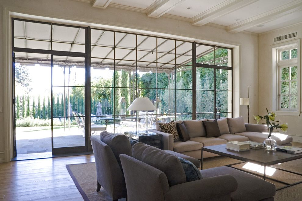 Cleaning Windows with Vinegar for a Transitional Living Room with a Casement Windows and William Hefner Architecture Interiors & Landscape by Studio William Hefner